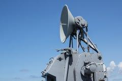 Communicatie toren op het slagschip Royalty-vrije Stock Afbeeldingen
