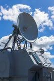 Communicatie toren op het slagschip Stock Afbeeldingen