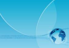 Communicatie van de aarde achtergrond vector illustratie