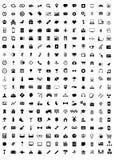 Communicatie van de de reisbaan van media verpakkende pictogrammen stock illustratie