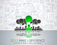 Communicatie van de groepswerkbrainstorming conceptenart. Stock Afbeelding