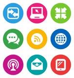 Communicatie van de kleur pictogrammen Stock Afbeelding