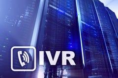 Communicatie van de de stemreactie van IVR Interactief concept serversdatacentrum stock afbeelding