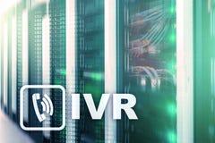 Communicatie van de de stemreactie van IVR Interactief concept serversgegevens cente royalty-vrije stock foto's