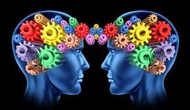 Communicatie van hersenen hoofdvoorzien van een netwerk Royalty-vrije Stock Foto's
