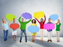 Communicatie van het diversiteitsbehoren tot een bepaald ras Globale Communautaire Mensen Concep Royalty-vrije Stock Fotografie