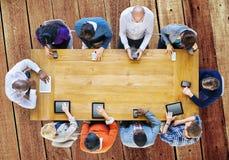 Communicatie van het technologie Digitaal Apparaat Online Concept stock foto