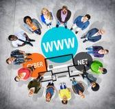 Communicatie van WWW Internet Online Globaal Concept Royalty-vrije Stock Foto
