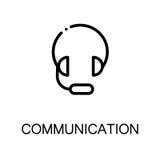 Communicatie vlak pictogram Stock Foto's