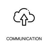 Communicatie vlak pictogram Stock Foto