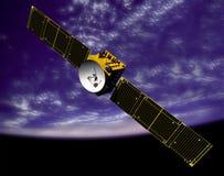 Communicatiesatelliet in ruimte stock illustratie