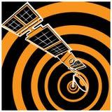 Communicatiesatelliet in ruimte Stock Foto