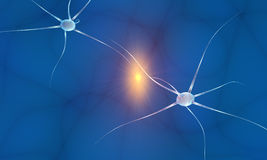 Communicating neurons Royalty Free Stock Images