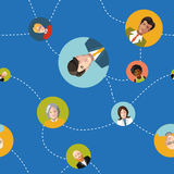 Communicating people flat seamles pattern Stock Images