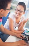 Communicating students Royalty Free Stock Photography