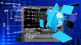 communicatio technologique à grande vitesse et haut d'Internet Image libre de droits