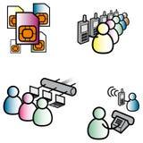 Communication. Vector illustrations of communication symbols Royalty Free Stock Image