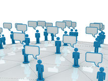 Communication. Chat Communication And Social Network Royalty Free Stock Photo
