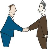 Communication 2. Business men shaking hands Stock Photos