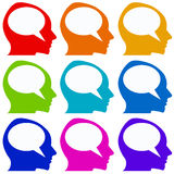 Communication. Colorful icons for communication concept (copy space provided Royalty Free Stock Photos