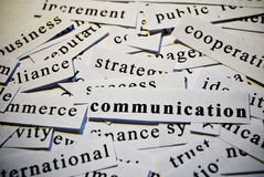 Communication. Concept of words related with busin Royalty Free Stock Photo