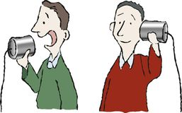 Communication 4. Two men on the phone Royalty Free Stock Photography