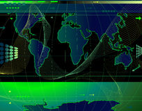 Communication. Abstract world map background with arrows and waves Royalty Free Illustration