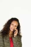 Communication. Attractive Young Businesswoman talking on the phone Stock Photo