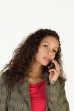 Communication. Attractive Young Businesswoman talking on the phone Royalty Free Stock Photos