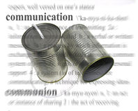 Communication. A photo of an old fashioned phone with a communication theme Stock Images