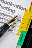 Communication And Pen Stock Images