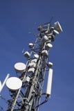 Communication antenna. Image of communication mobile internet antenna over a blue sky background Stock Photo