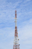 Communication Antenna - Electromagnetic Pollution against blue sky.  Royalty Free Stock Photography