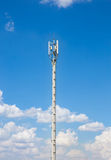 Communication antenna repeater tower Royalty Free Stock Photography