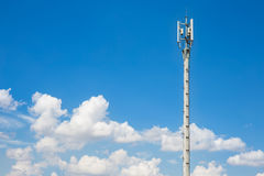 Communication antenna repeater tower Stock Photo