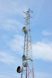 Communication antenna tower Royalty Free Stock Photo