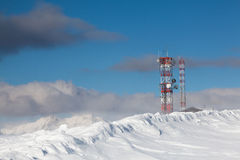 Communication antenna tower Stock Photo