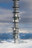 Communication antenna tower Royalty Free Stock Images