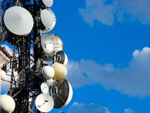Communication antenna tower Royalty Free Stock Photos