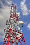Communication antenna tower Royalty Free Stock Image