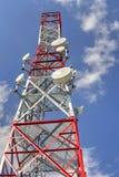 Communication antenna tower Royalty Free Stock Photos