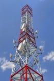 Communication antenna tower Stock Photos