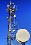 Communication antenna tower Stock Image