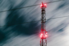 Communication antenna tower Royalty Free Stock Image