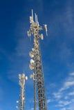 Communication antenna tower, transmitter Royalty Free Stock Photos