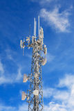 Communication antenna tower, transmitter Royalty Free Stock Photo
