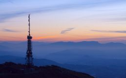 Communication Antennas Stock Image