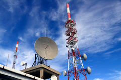 Communication antennas Royalty Free Stock Images