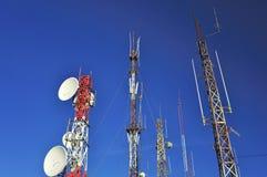 Communication antennas stock photography