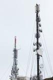 Communication antennas Stock Images